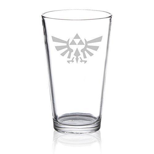 The Legend of Zelda - Triforce Hylian Crest - Etched Pint Glass