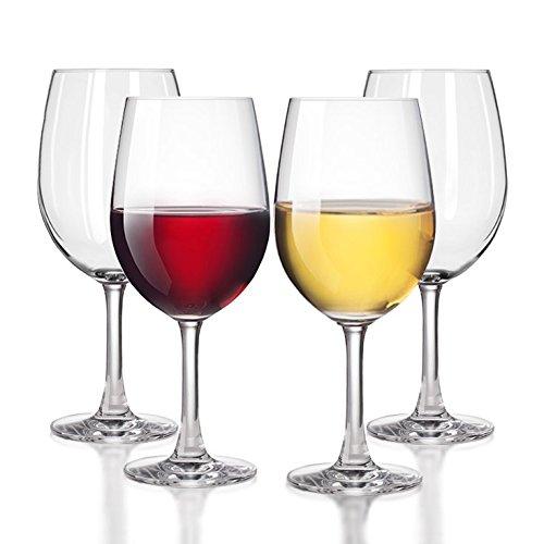 Unbreakable WhiteRed Wine glasses by TaZa - 100 Tritan Dishwasher-safe shatterproof plastic wine glasses - Smooth Rims -Set of 4 20 oz