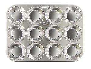 Fox Run Stainless Steel Muffin Pan 12 Bakeware New
