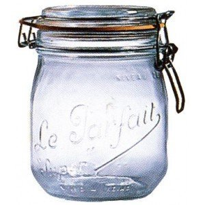 Le Parfait French Glass Canning Jar with 85mm Gasket and Lid - 34 75 Liter