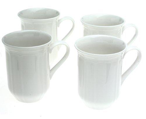 Mikasa Antique White Coffee Mugs Set of 4