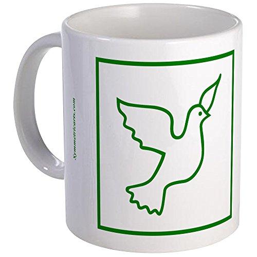 CafePress - Green Peace Dove Small Mugs - Unique Coffee Mug Coffee Cup