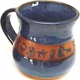 Mini Petroglyph Small Mug in Real Blue glaze