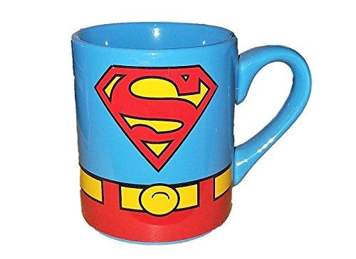 DC Comics SUPERMAN Logo 14 oz Ceramic Blue Coffee Mug