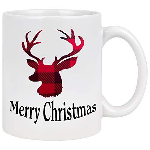 Christmas Coffee Mug with Christmas Reindeer Merry Christmas Mug New Year Gifts Christmas Cup Christmas Gifts for Friends Men Women Father Mother Coffee Mugs for Christmas 11Oz