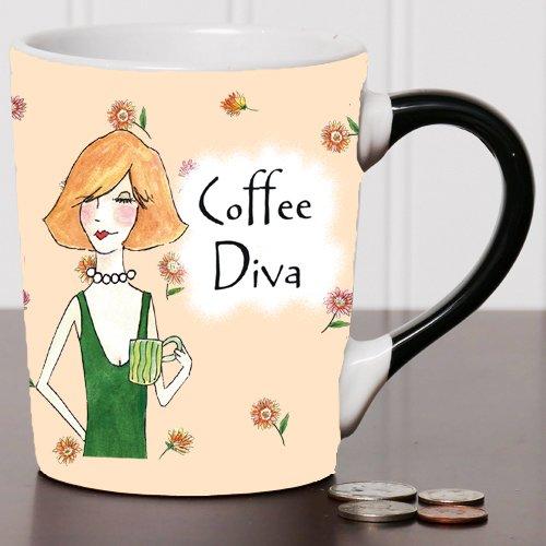 Coffee Diva Mug Humor Coffee Cup humorous Mug Ceramic Mug Custom Humor Gifts By Tumbleweed