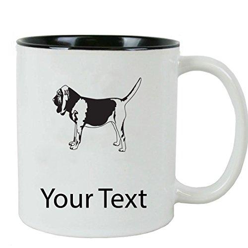 Personalized Custom Bloodhound 11 oz White Ceramic Coffee Mug with White Gift Box