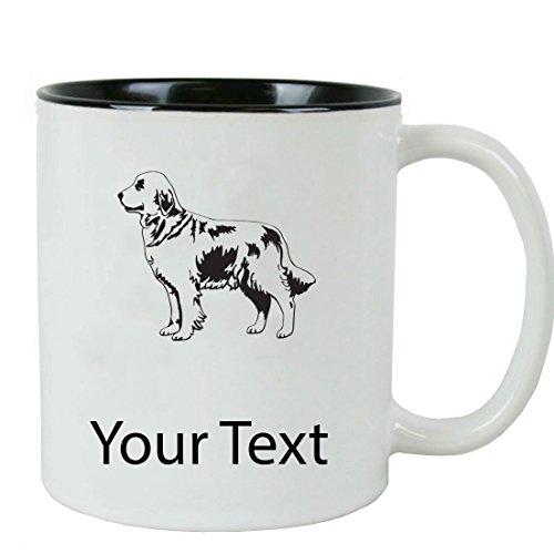 Personalized Custom Golden Retriever 11 oz White Ceramic Coffee Mug with White Gift Box