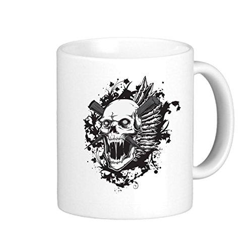 SthAmazing Skull Skeleton Bone Tattoo Skull Skeleton Personalized Photo Mug Coffee Travel Cups