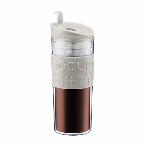 Bodum Insulated Plastic Travel Mug 045-Liter 15-Ounce White