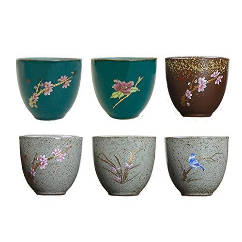 KCHAIN Pottery Handmade Mugs set Original Sake Cup Teacup in Ceramic Sake Japanese Tea Mug and Fresh Drinks