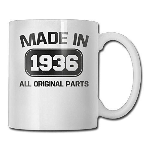 Wa166djb Interesting TeeStars - 81st Birthday Gift - Made In 1936 All Original Coffee Mug Heat Resistant Cup For Women