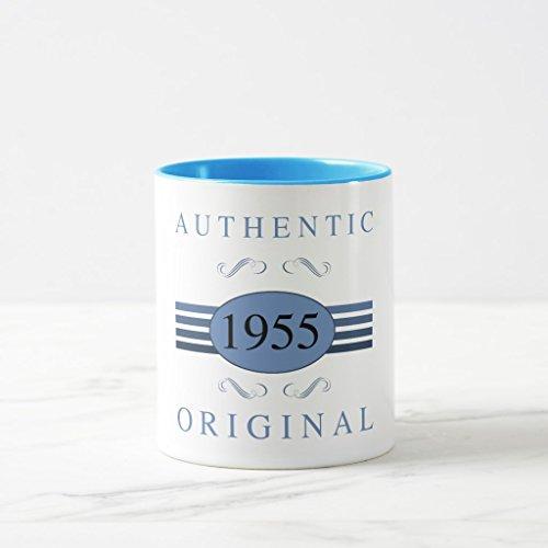Zazzle 1955 Authentic Original Coffee Mug Light Blue Combo Mug 11 oz