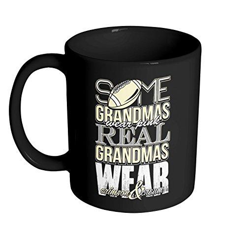 Real Grandmas Wear Crimson And Cream Coffee Mug - 11oz Ceramic Coffee Cup - Best Gift Funny Novelty - Mug King