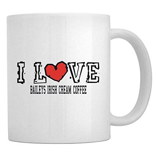 Teeburon I LOVE Baileys Irish Cream Coffee Mug