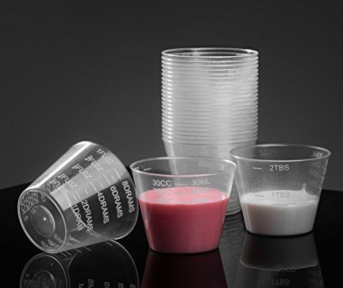 HomEquip 30ml  1 Oz 100 Count Graduated Medicine Cups- Non-Sterile Disposable Plastic