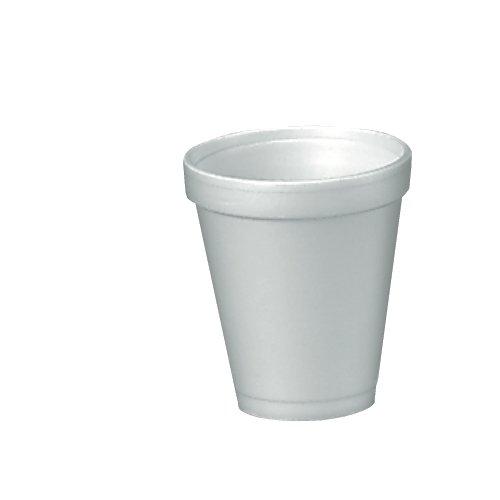 Dart 4J4 Foam Drink Cups 4oz 25 Per Bag Case of 40 Bags