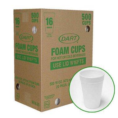 Dart Foam Cups - 50016 oz