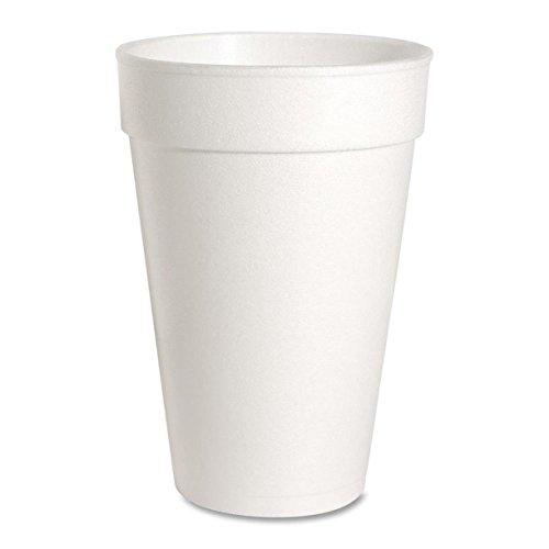 Genuine Joe GJO58554 HotCold Foam Cup 16-Ounce Capacity White Carton of 500