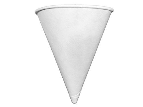 Genpak Harvest 45 oz Compostable Paper Cone Water Cup - Recyclable Rolled Rim 400ct W42F Vasos de Agua con Forma de Cono 2-Boxes 400ct