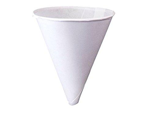 Konie Cups - 100KRF Recyclable Paper Cone Funnel 10 oz Disposable Tazas de cono de embudo 1 Pack 125ct