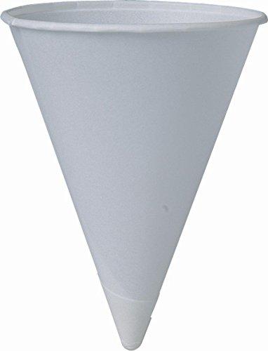 SOLO 200 Piece Cup Company Cone Water Cups Cold Paper White 4 oz