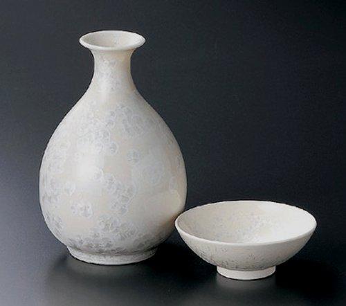 WHITE-KESSYOU Jiki Japanese Porcelain SAKE Set