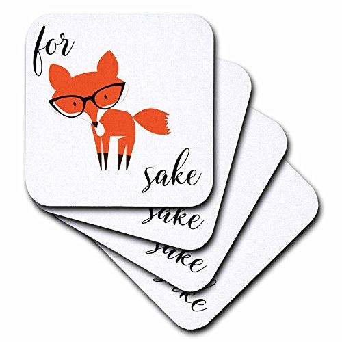 3D Rose for Fox Sake Ceramic Tile Coasters