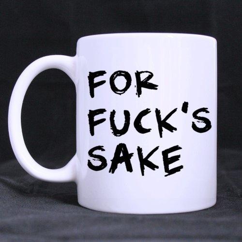 LALKIO Personalized White Mugs For FuckS Sake Ceramic Coffee Mug Tea Mug Cup - 11 oz