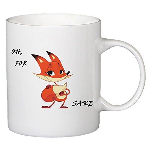 Onener Funny Mugs - For Fox Sake Ceramic Gift Coffee Mug Tea Cup 11 OZ White