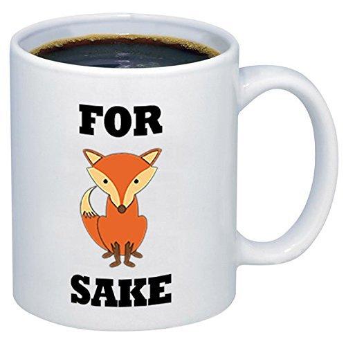 ZHRNG FOR FOX SAKE Ceramic Coffee Mugs 11 oz White