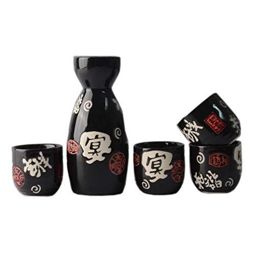 FANCY PUMPKIN Japanese Ceramic Sake Bottle Cups Sets Sake Flask for Sushi Bar 06