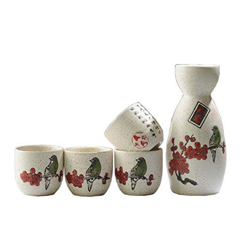 FANCY PUMPKIN Japanese Ceramic Sake Bottle Cups Sets Sake Flask for Sushi Bar 09