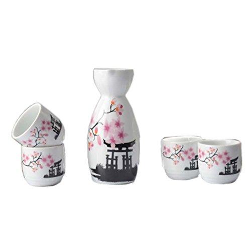 FANCY PUMPKIN Japanese Ceramic Sake Bottle Cups Sets Sake Flask for Sushi Bar 12
