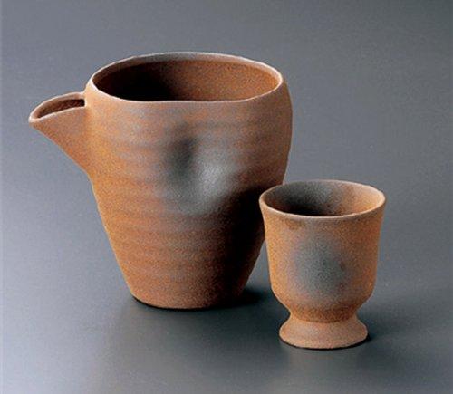 BIZEN Tohki Japanese Pottery SAKE Set