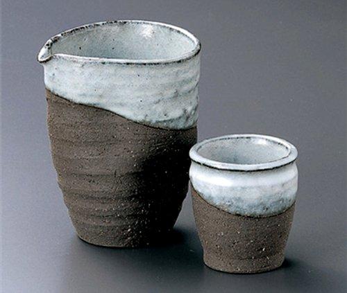 KIN-YOU Tohki Japanese Pottery SAKE Set 38inches Set of 2 SAKE Sets Japanese original Porcelain