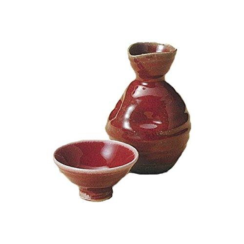 Japanese Ceramic Shigaraki ware Set of Sake tokkuri bottle server and guinomi cup Shinsha 3-1213