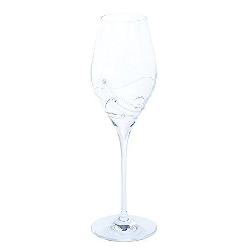 Dartington Crystal Glitz Prosecco Glass 032L Pair