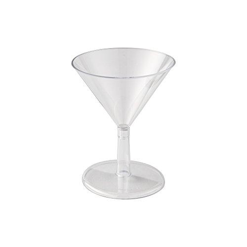 WNA Petites 24 Count Plastic Martini Glasses Clear 2 oz