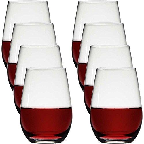 Stolzle 8 Pack Stemless 23oz Lead Free Crystal Red Wine Glasses Set Bulk Dishwasher Safe Barware