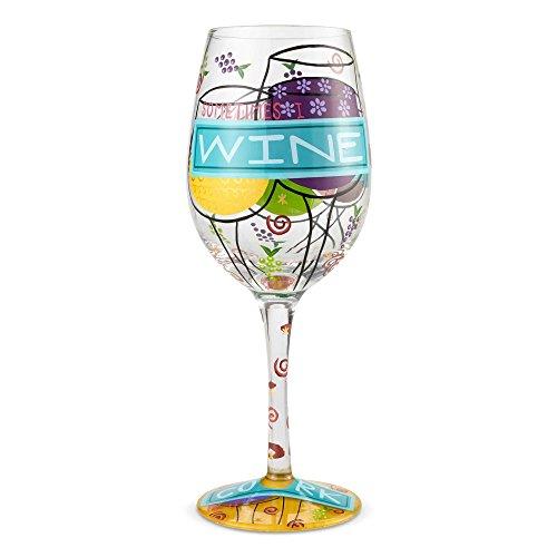 Enesco 6002444 Designs by Lolita Sometimes I Wine 15 oz Wine Glass Multicolor