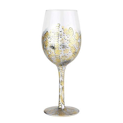 Enesco 6004363 Designs by Lolita Venom Hand-Painted Artisan Wine Glass 15 Ounce Multicolor