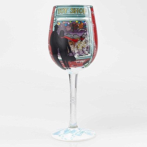 Enesco Designs by Lolita Kid at Heart blown Glass Wine Glass 15 oz