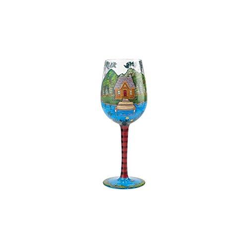 Enesco Designs by Lolita Lake House Artisan-blown Glass Wine Glass 15 oz