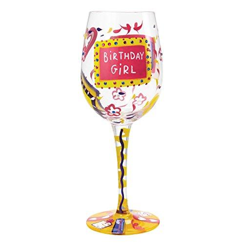 Lolita Birthday Girl Artisan Painted Wine Glass Gift