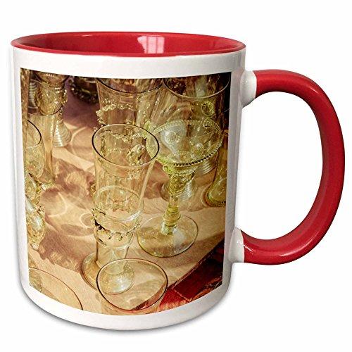 3dRose Alexis Photography - Objects - Beautiful vintage wine glasses Stylized photo - 11oz Two-Tone Red Mug mug_270825_5