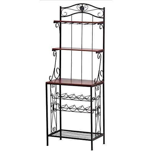 Metal Wine Racks Vintage Rustic Shelf Deco Baker's Style Wine Rack Glass Holder