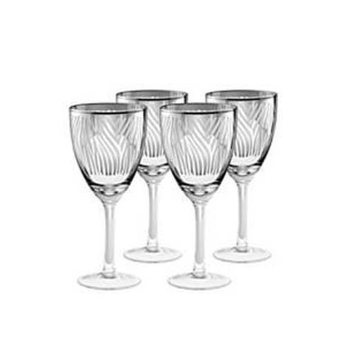 Artland Zebra Wine Glass 14 oz Silver