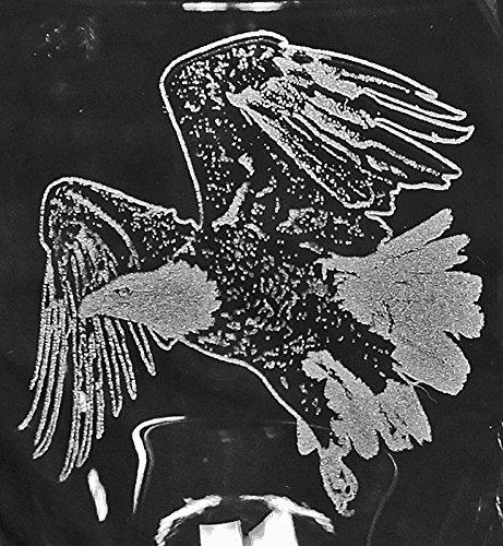 Muddy Creek Reflection American Bald Eagle Bird Raptor Laser Etched Large Red Wine Glass Set 2 20RW