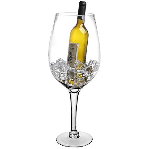 20-Inch Giant Clear Decorative Hand Blown Wine Glass Novelty StemwareChampagne Magnum Chiller